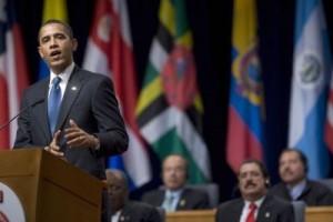 Obama en la Cumbre de las Américas.