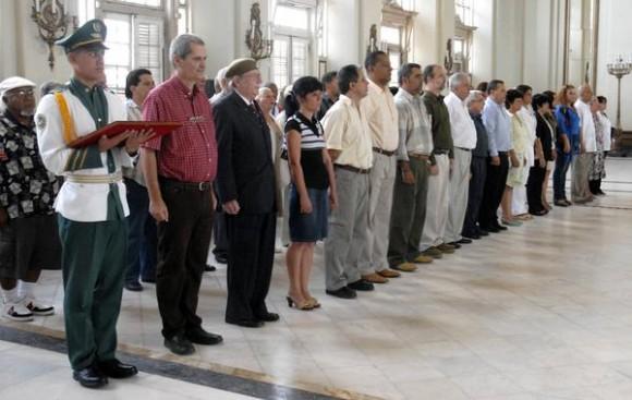 Acto de entrega de la distincion Félix Elmuza a perdiodistas cubanos, en La Habana, Cuba, el 9 de marzo de 2011. AIN FOTO/Sergio ABEL REYES