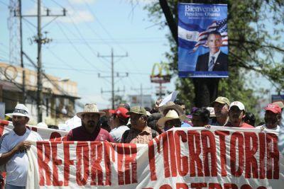 Protestas en las calles contra la visita de Obama. Foto: EFE