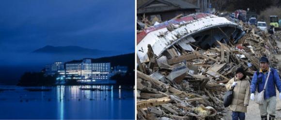 Minamisanriku antes y después del terremoto.