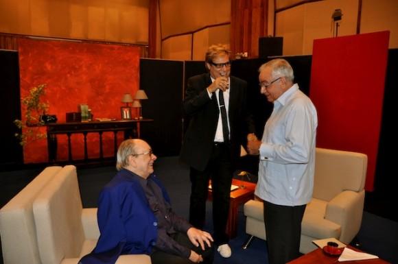 Alfredo Guevara, Amaury y Raúl Roa Kourí. Foto: Petí
