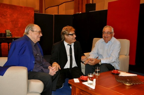 Alfredo Guevara, Amaury Pérez y Raúl Roa Kourí. Foto: Petí