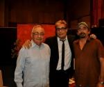 """Raúl Roa Kourí, Amaury Pérez y Rafael Solís en """"Con 2 que se quieran"""". Foto: Petí"""
