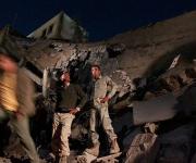 Ataque con misil residencia Gadafi. Foto: EFE
