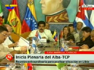 Reunión de Canciller del ALBA sobre Libia