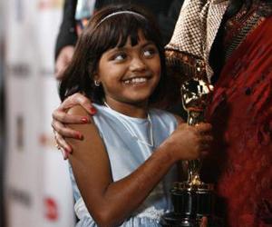 "Rubina Ali, protagonista del filme ""Slumdog Millonaire"""