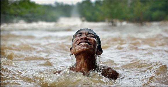 Esta foto fue tomada en el río Mekong, Laos. Foto: Timothy Allen/BBC Mundo