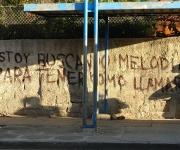 Un verso de Silvio Rodríguez en una parada de ómnibus