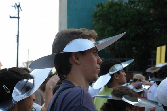 El ISDI luciendo sus habituales sombreros. Foto: Rafael González Escalona/Cubadebate