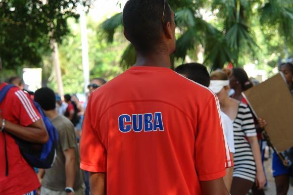 Los deportistas desfila también. Foto: Rafael González Escalona/Cubadebate