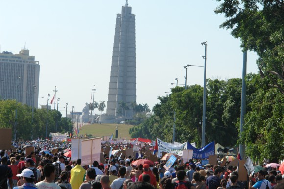 Nuestra meta la Plaza de la Revolución. Foto: Rafael González Escalona/Cubadebate