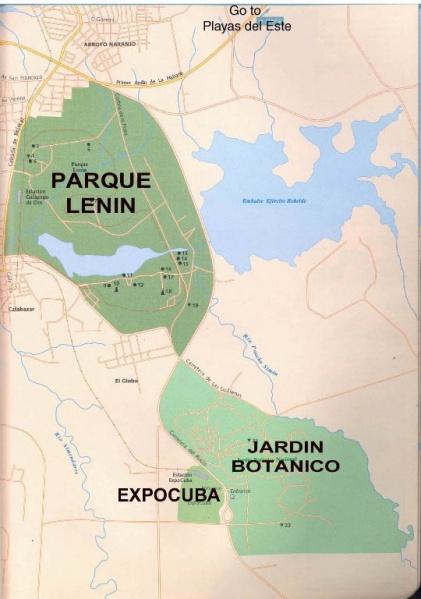 ExpoCuba se localiza exactamente en la carretera del Rocío, en el kilómetro 3,5, Calabazar, en el municipio Arroyo Naranjo, en Ciudad de La Habana.