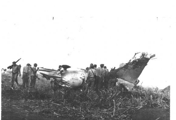 Avión mercenario derribado en Girón