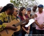 Acto dedicado a la víctimas del sabotaje contra el avión cubano en Barbados
