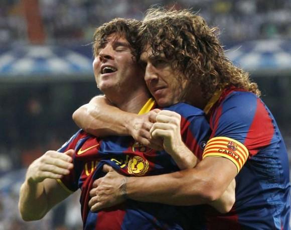 Messi celebra el primer gol con el que acercó al Barca a la final de WembleyLionel Messi resolvió un partido de ánimos caldeados y el Barcelona derrotó el miércoles 2-0 al Real Madrid para sacar una ventaja importante del duelo de ida por las semifinales de la Liga de Campeones.