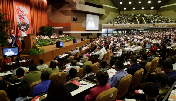 El Presidente cubano Raúl Castro clausura el VI Congreso del Partido el 19 de abril de 2011.