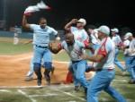 Ciego festeja su triunfo en semifinales. Foto Osvaldo Gutiérrez Gómez (AIN)
