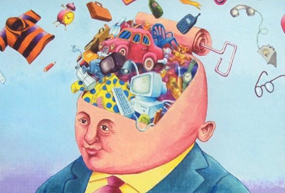 Consumismo. Ilustración: ARES