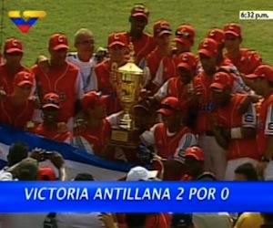 La selección cubana venció este sábado 2-0 a su similar venezolana