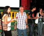 Después del homenaje se proyectctó el filme en el parque de punta Brava