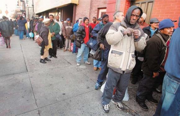 Pobres en Nueva York. Foto: Getty Images