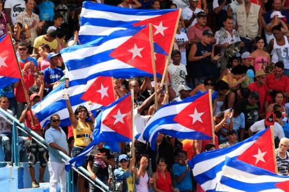 La bandera, presente el el Cepero.  Foto Ismael Francisco