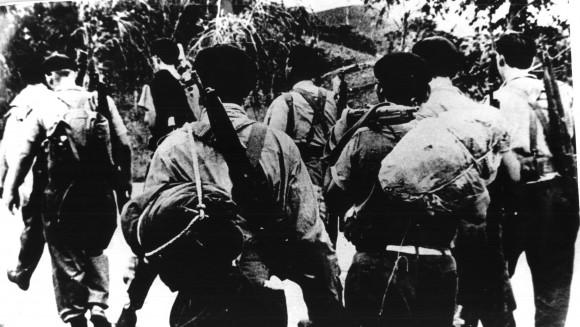 Milicianos al frente. Abril de 1961