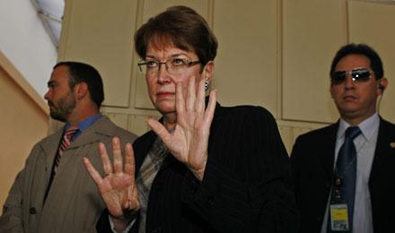 La embajadora de Estados Unidos en Ecuador, Heather Hodges.