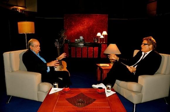 """Lázaro García y Amaury Pérez en """"Con 2 que se quieran"""". Foto: Petí"""