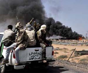 Aviación  de alianza imperial bombardea zonas civiles libias