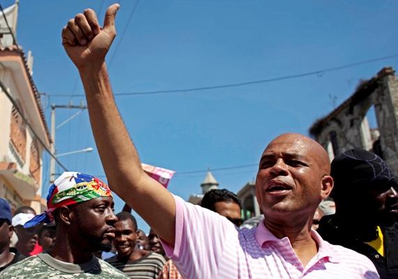Michell Martelly, de cantante a nuevo presidente de Haití en 2011.