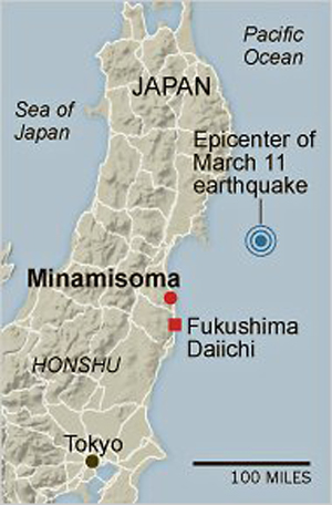 La ciudad de Minamisoma está a 24 kilómetros de Fukushima y está totalmente aislada. Foto: The New York Times