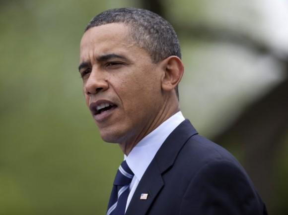 El presidente Barack Obama habla en el Jardín de Rosas de la Casa Blanca. Foto: AP