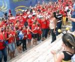 Visitan delegados del V Congreso Pioneril el Pabellon Cuba, en La Habana, el 3 de abril de 2011. AIN FOTO/Marcelino VAZQUEZ HERNANDEZ