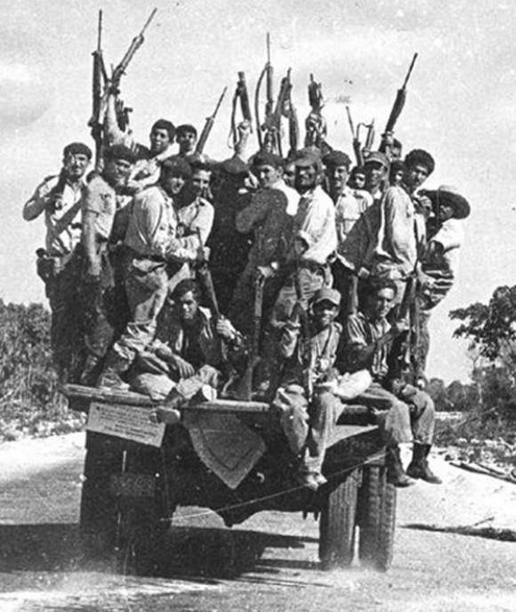 Milicianos en Girón. Foto: Raúl Corrales