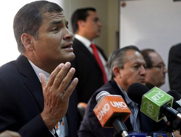 Rafael Correa. Foto: Reuters