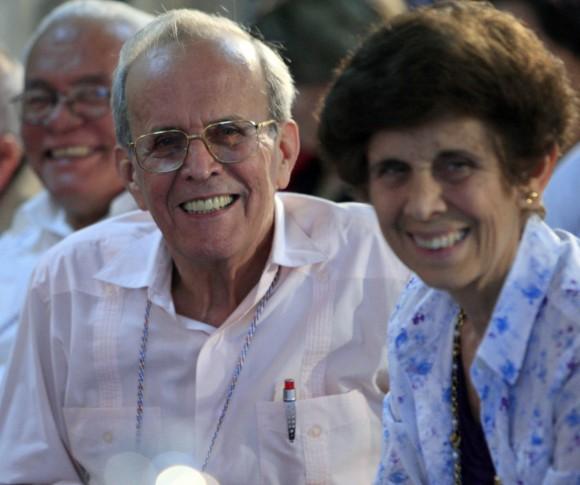 Ricardo Alarcón y Concepción Campa (Conchita), Foto: Ismael Francisco.