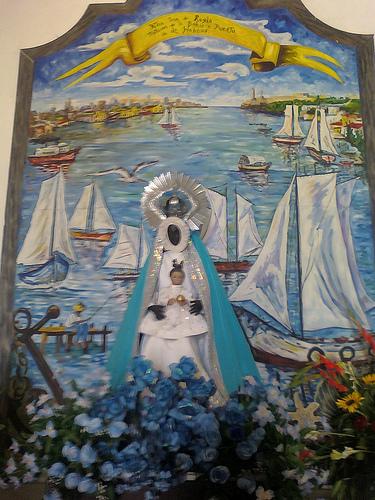 Nuestra Señora de Regla  La Santísima Virgen de Regla, venerada en su propio Santuario, en la isla de Regla, La Habana, Cuba, es una imagen que esta al lado lateral del santuario, me encanto la iglesia es pequeña pero muy hermoso, aunque por desgracia afuera esta llena de santeros y brujos adoradores de Yemaya la contraparte orisha de la Virgen de Regla