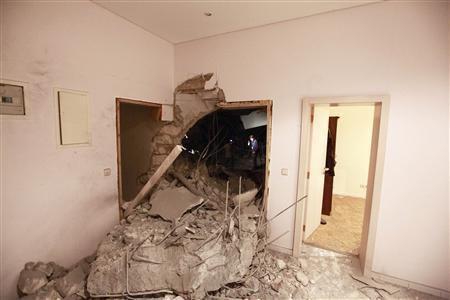 Ataque contra la casa de Gadafi, donde murieron su hijo y tres de sus nietos. Foto: Facebook