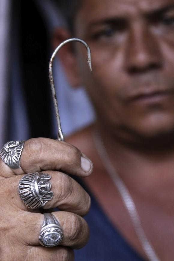 """Chicho pescador """"pescao que yo enganche se pesca, no se deja ir"""". Foto: Alejandro Ramírez"""