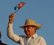 SANTIAGO DE CUBA-RUL EN EL DESFILE POR EL PRIMERO DE MAYO