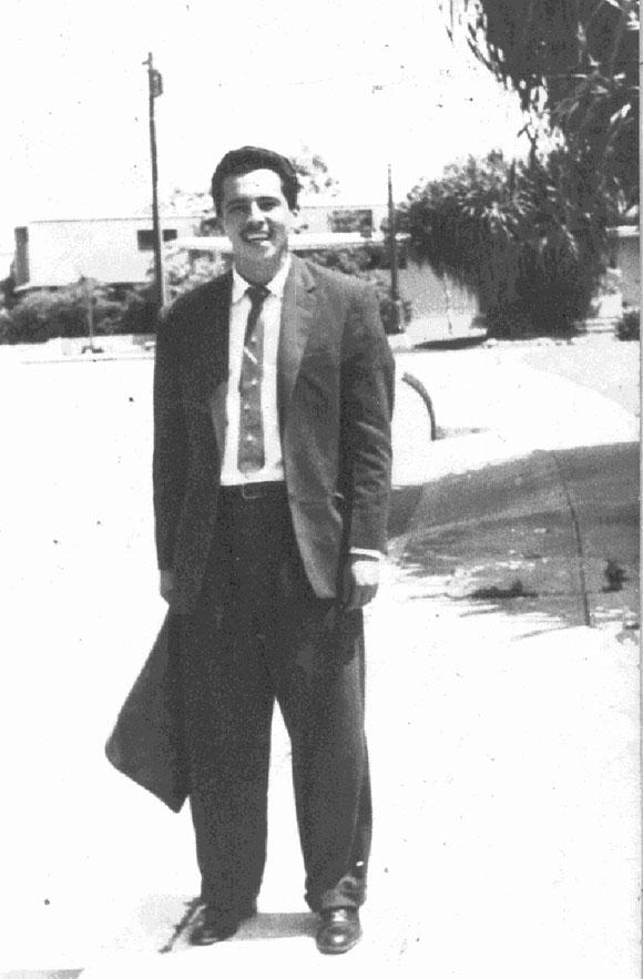 Carlos Bastidas Argüello en sus días de estudiante