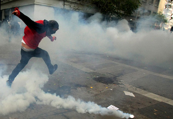 Estudiantes en Chile exigen mejoras en la Educación Pública. Foto: EFE