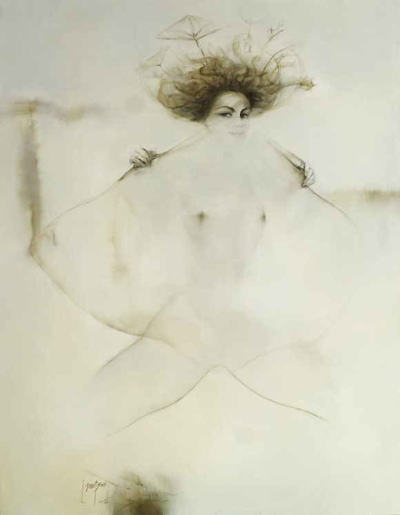 Ernesto García Peña. Desafío, 2009. Acrílico lienzo 159 x 121