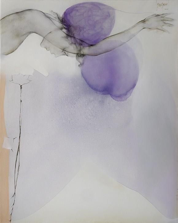 Ernesto García Peña. Embrujo, 2010. Mixta lienzo 100 x 80