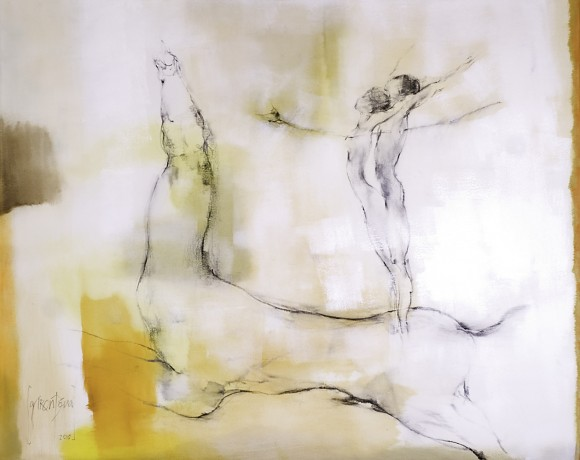 Ernesto García Peña. Entrega, 2010. Acrílico lienzo 80 x 100