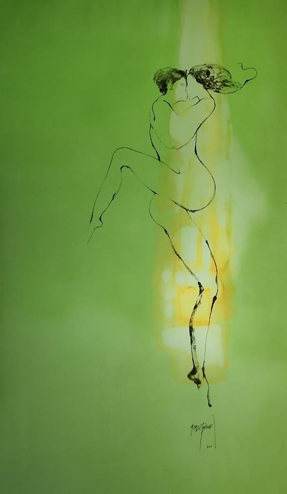 Ernesto García Peña. Iridiscencia, 2010. Acrílico lienzo 135 x 80