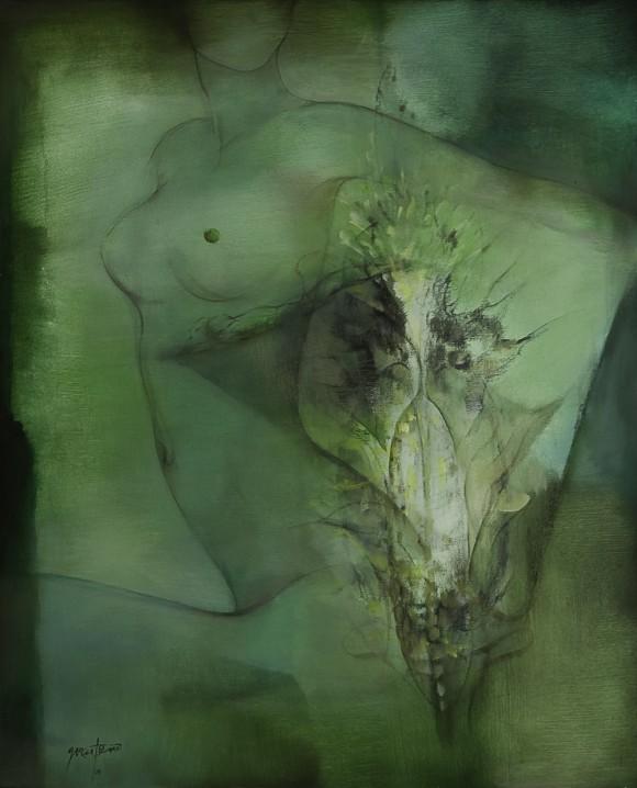 Ernesto García Peña. Natura, 2007. Acrílico lienzo 100 x 81