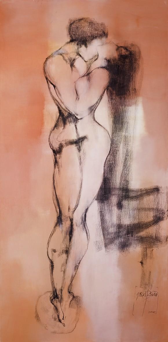 Ernesto García Peña. Nos, 2010. Mixta lienzo 176 x 86