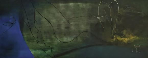 Ernesto García Peña. Osadías, 2009. Acrílico lienzo 65 x 165
